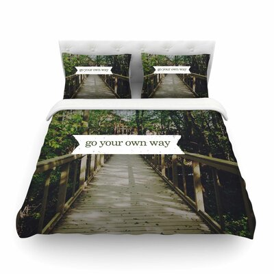 Go Your Own Way Nature by Chelsea Victoria Featherweight Duvet Cover Size: Full/Queen