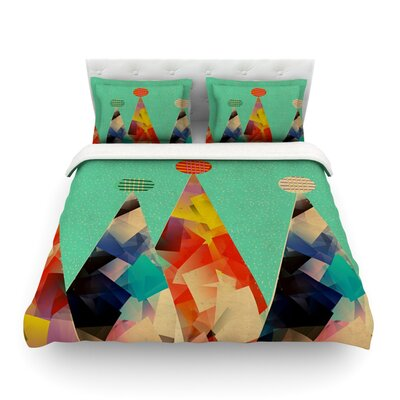 Rainbow Peaks by Bri Buckley Featherweight Duvet Cover Size: Full/Queen