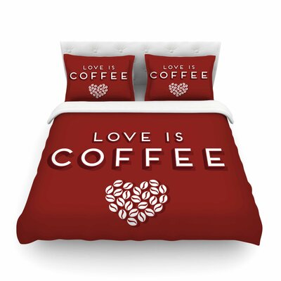 Coffee Love by Busy Bree Featherweight Duvet Cover Size: Twin