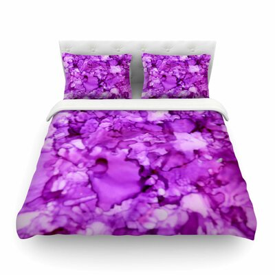 Magenta Painting by Claire Day Featherweight Duvet Cover Size: King