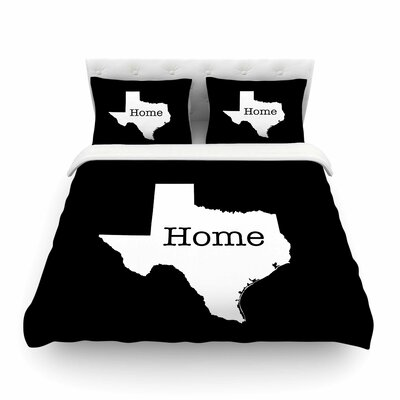 Texas State Outline by Bruce Stanfield Featherweight Duvet Cover Size: Full/Queen