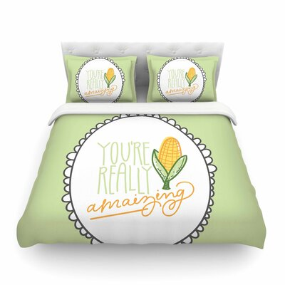 Amaizing by Busy Bree Featherweight Duvet Cover Size: Full/Queen