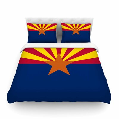 Flag of Arizona by Bruce Stanfield Featherweight Duvet Cover Size: Twin