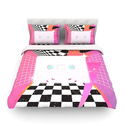 K7 Casette by Danny Ivan Featherweight Duvet Cover Size: Full/Queen