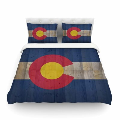 Flag of Colorado by Bruce Stanfield Featherweight Duvet Cover Size: King