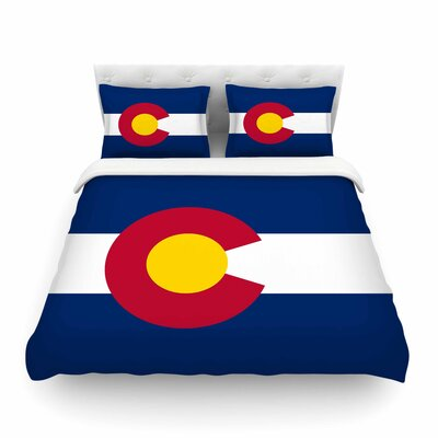 Flag of Colorado II by Bruce Stanfield Featherweight Duvet Cover Size: Full/Queen