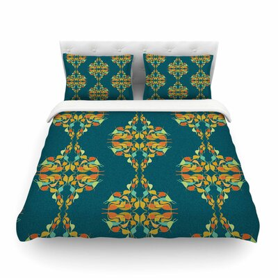 Turquoise Feast Featherweight Duvet Cover Size: Full/Queen