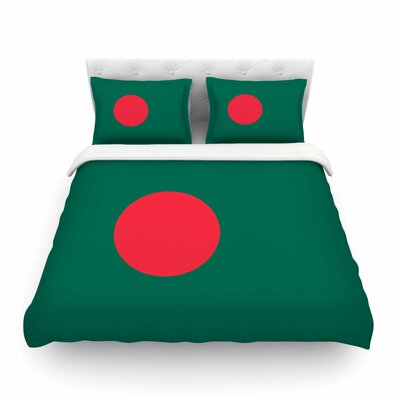 Flag of Bangladesh by Bruce Stanfield Featherweight Duvet Cover Size: Twin