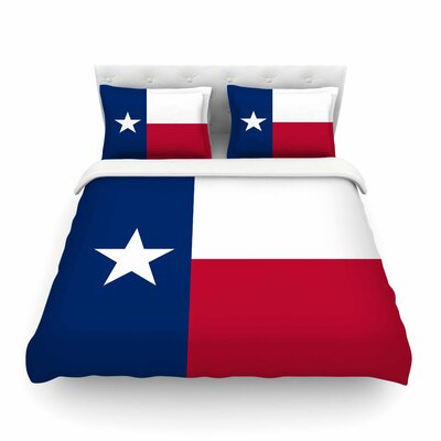 Flag of Texas by Bruce Stanfield Featherweight Duvet Cover Size: Full/Queen