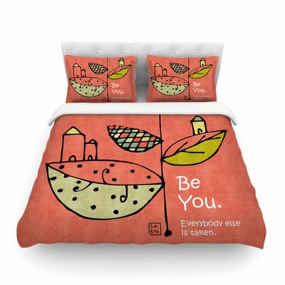 Be You by Carina Povarchik Featherweight Duvet Cover Size: Twin