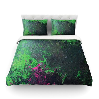 Acid Rain by Claire Day Featherweight Duvet Cover Size: Twin