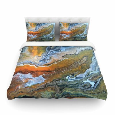 Geologic Veins by Carol Schiff Featherweight Duvet Cover Size: Twin
