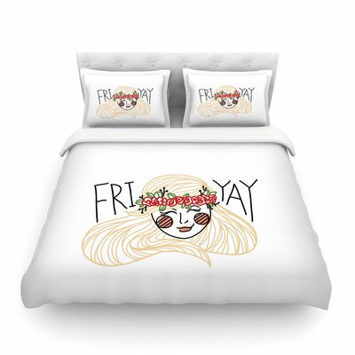 Fri-Yay by Busy Bree Featherweight Duvet Cover Size: Full/Queen