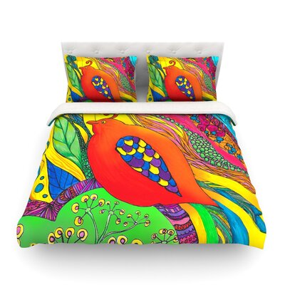 Psycho-Delic Dan by Catherine Holcombe Featherweight Duvet Cover Size: King
