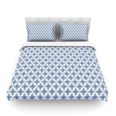 Bohemian Blues III by Carolyn Greifeld Featherweight Duvet Cover Size: Twin