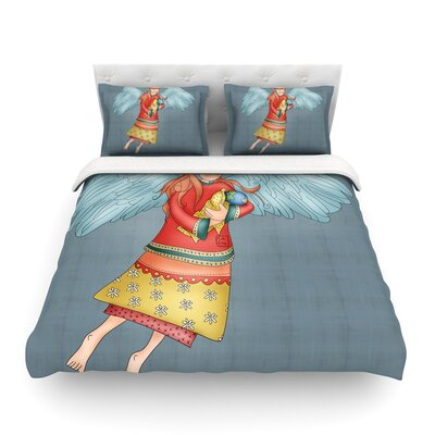 Guardian Angel by Carina Povarchik Featherweight Duvet Cover Size: Full/Queen