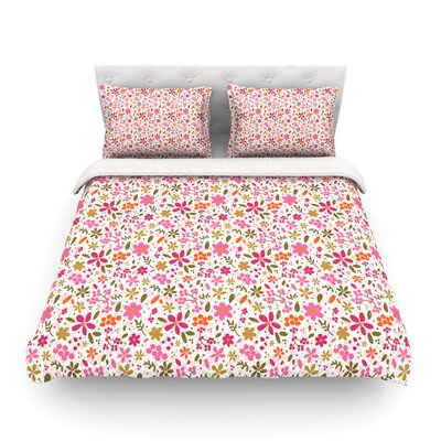 Flowers Garden by Carolyn Greifeld Featherweight Duvet Cover Size: King