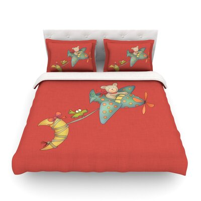 I Will Bring You the Moon by  Carina Povarchik Featherweight Duvet Cover Size: Twin