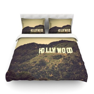 Hollywood by Catherine McDonald Featherweight Duvet Cover Size: Twin