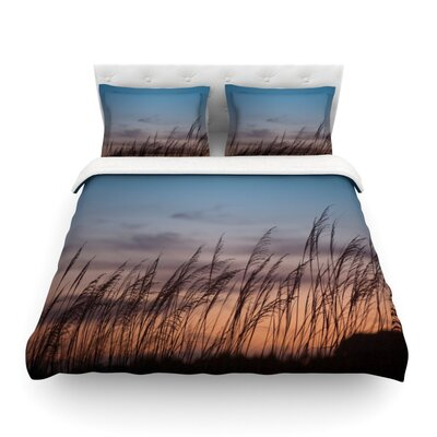 Sunset on the Beach by Catherine McDonald Featherweight Duvet Cover Size: Full/Queen