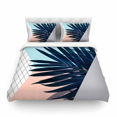Pastel Geometry Featherweight Duvet Cover Size: King