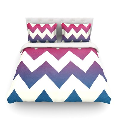 Featherweight Duvet Cover Size: King, Color: Fade to Blue