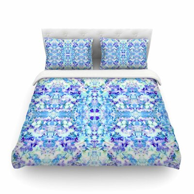 Floral Fantasy Reflection by Carolyn Greifeld Featherweight Duvet Cover Size: Twin
