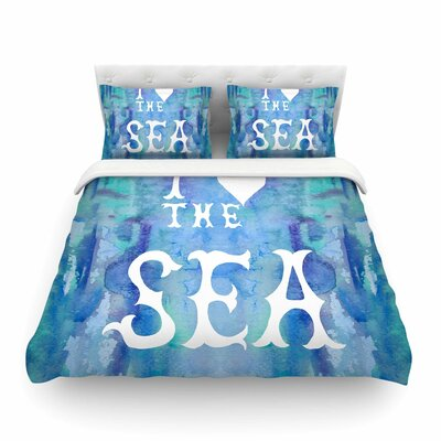 I Love the Sea by Catherine Holcombe Featherweight Duvet Cover Size: Full/Queen