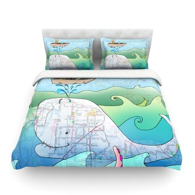 Im on a Boat by Catherine Holcombe Featherweight Duvet Cover Size: Full/Queen