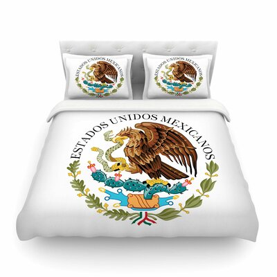 Mexico Emblem by Bruce Stanfield Featherweight Duvet Cover Size: Twin