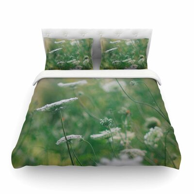 Queen Ann Floral Nature by Chelsea Victoria Featherweight Duvet Cover Size: Twin