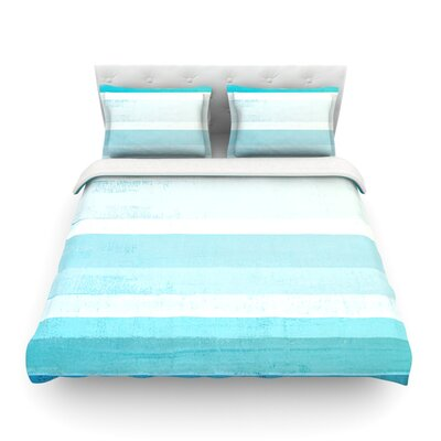 Waves by CarolLynn Tice Featherweight Duvet Cover Size: Twin