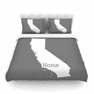 California Is Home by Bruce Stanfield Featherweight Duvet Cover Size: King