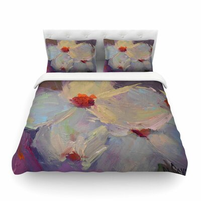 Dreaming of Dogwood by Carol Schiff Featherweight Duvet Cover Size: King