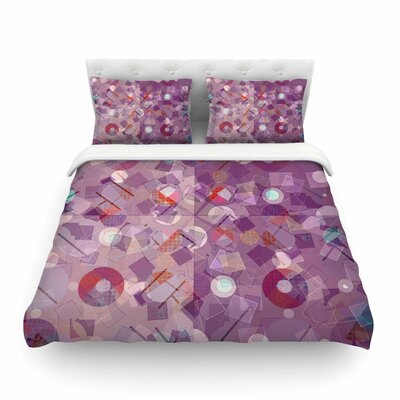 Purple Mess Abstract by Cvetelina Todorova Featherweight Duvet Cover Size: Twin