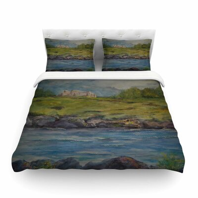 Castle Ruins by Cyndi Steen Featherweight Duvet Cover Size: Twin