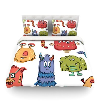 Little Monsters by Brienne Jepkema Featherweight Duvet Cover Size: King
