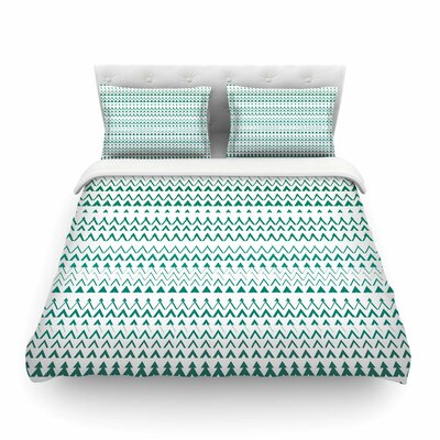 Revel Chevron by Bridgette Burton Featherweight Duvet Cover Size: Twin