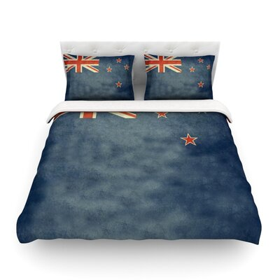 Flag of New Zealand by Bruce Stanfield Featherweight Duvet Cover Size: Twin