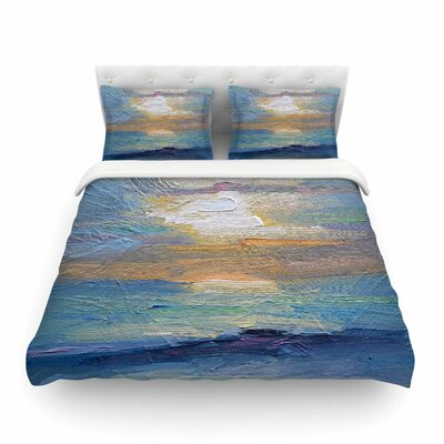 Ocean Sunset Coastal by Carol Schiff Featherweight Duvet Cover Size: King