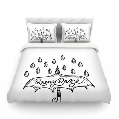 Rainy Daze by Busy Bree Featherweight Duvet Cover Size: King