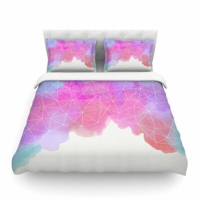 Spring Shadows Pastel Featherweight Duvet Cover Size: King