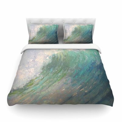 Wall of Water Painting by Carol Schiff Featherweight Duvet Cover Size: Full/Queen