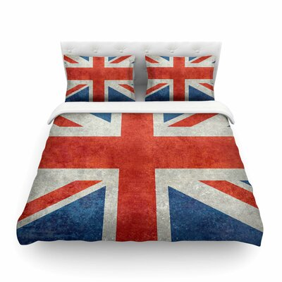 UK Union Jack Flag by Bruce Stanfield Featherweight Duvet Cover Size: Twin