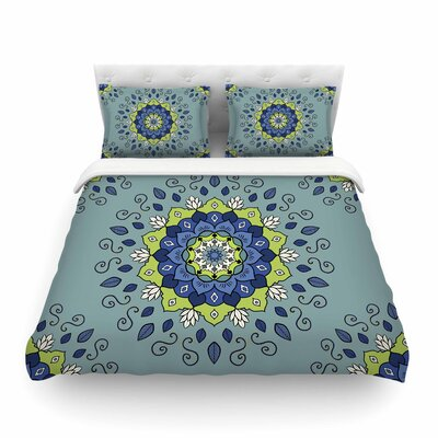 Mandala Geometric by Cristina Bianco Featherweight Duvet Cover Size: King