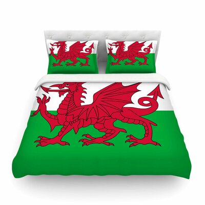 Flag of Wales - Authentic by Bruce Stanfield Featherweight Duvet Cover Size: Twin