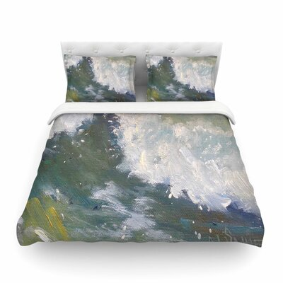 The Crest Nautical Painting by Carol Schiff Featherweight Duvet Cover Size: King
