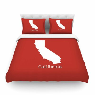 California State by Bruce Stanfield Featherweight Duvet Cover Size: Full/Queen