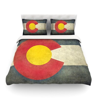 State Flag of Colorado by Bruce Stanfield Featherweight Duvet Cover Size: King