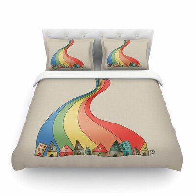 Weeeee Fantasy by Carina Povarchik Featherweight Duvet Cover Size: Twin